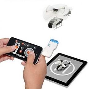 iPhone/iPadでCool!に小型ヘリ操縦しよう。USB赤外線RC『ヘリラジ!!』発売