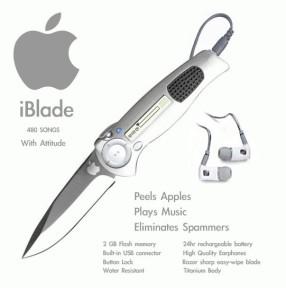 iPodとナイフを組み合わせるとこうなる 「iBlade」
