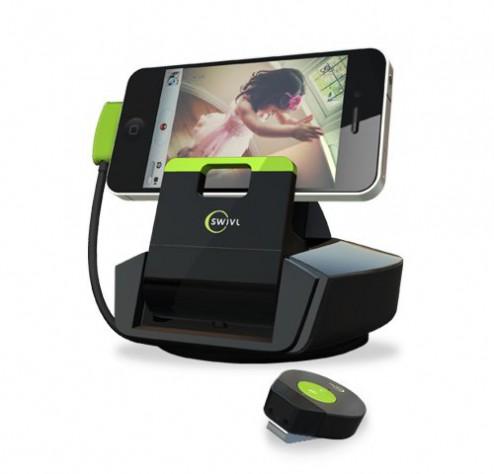 もうあなたを逃がさない!iphoneのビデオカメラに自働追尾機能を追加するクレードル「Swivl」が発売