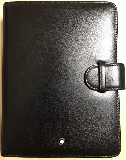最高峰手帳「モンブラン(Mont Blanc)」のミディアムサイズオルガナイザーをゲットし心身ともに気合を入れる