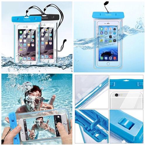 夏に向けてiPhone、Android用の防水ケースゲット!「Teyimo (2本セット)防水ケース スマホ用防水ポーチ 5.5インチまで対応」で楽しもう!