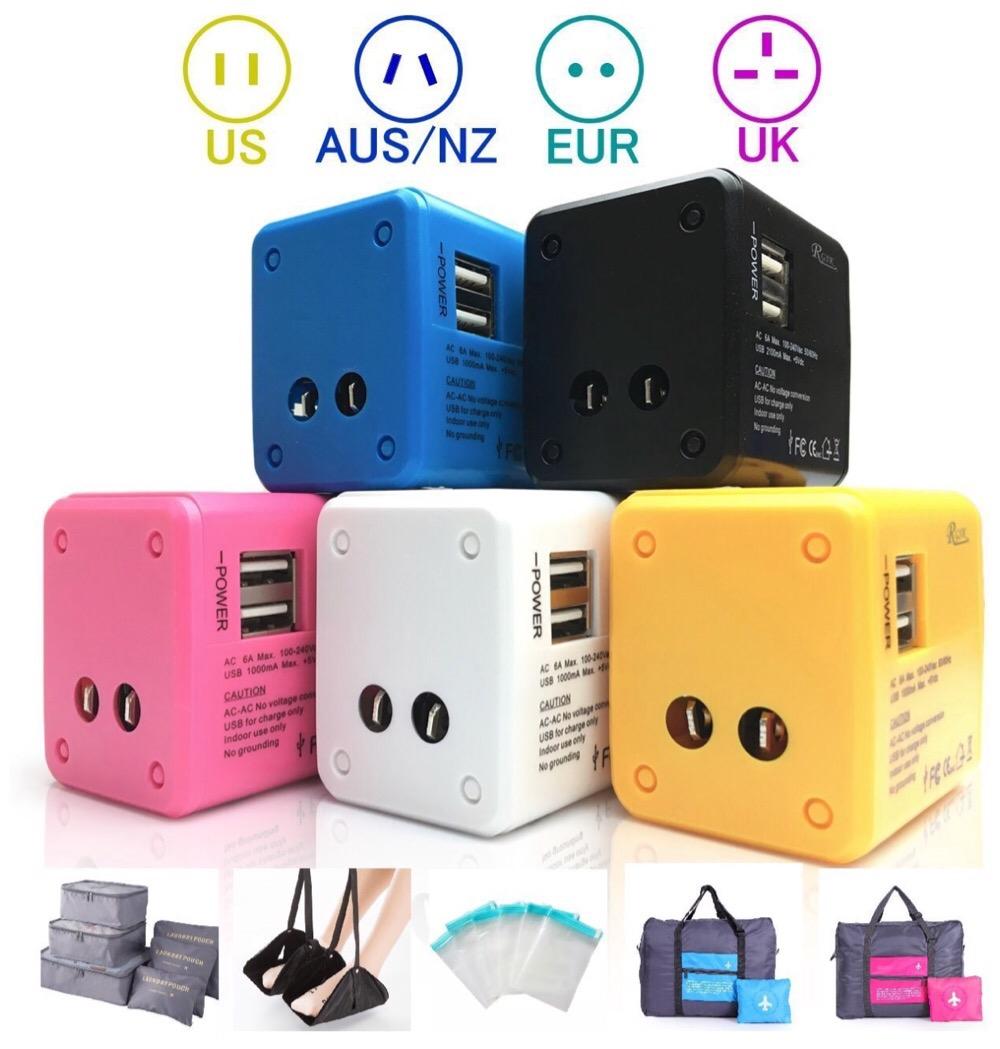 海外旅行に行くなら150ヶ国以上で使えるコチラの電源変換プラグがおススメっ!