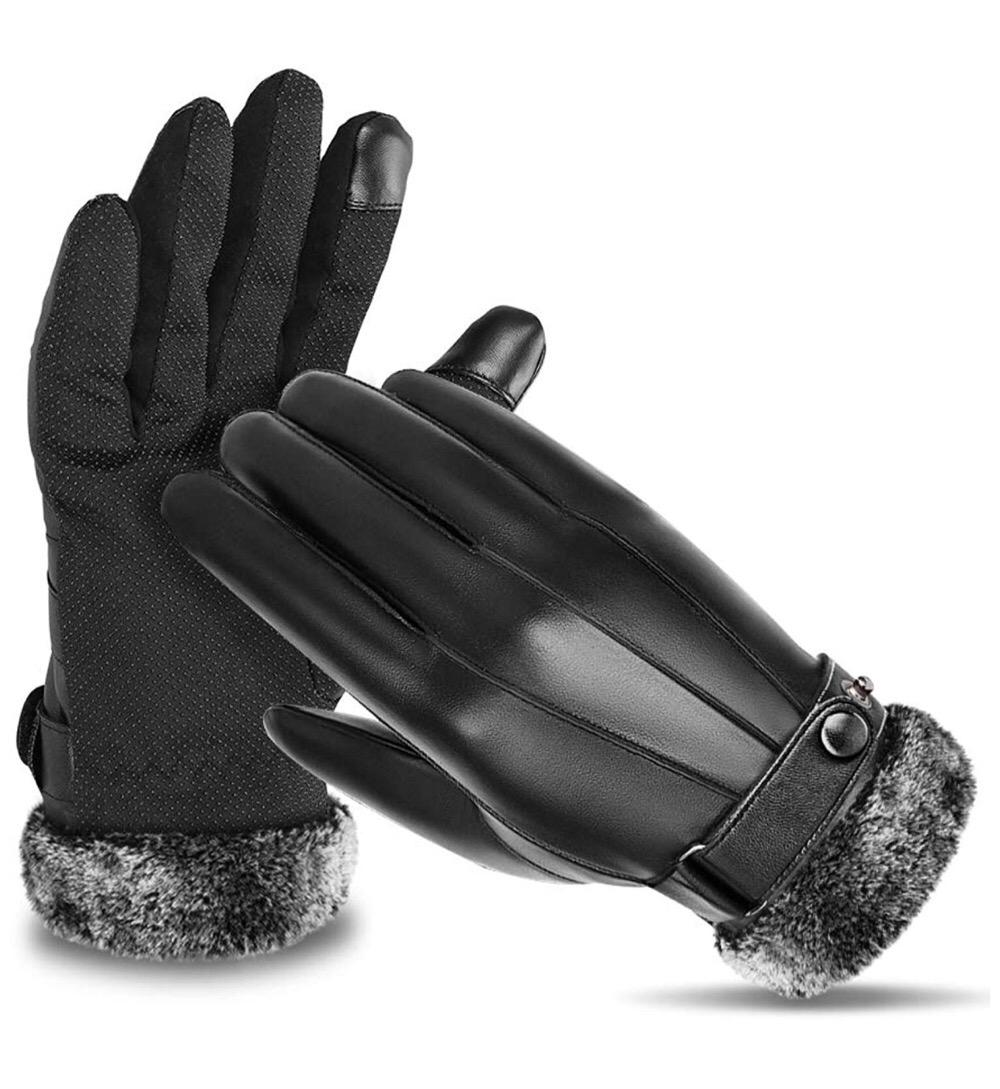 バイクに乗りながらスマホも操作できるオシャレでリーズナブルなPUレザー手袋のご紹介