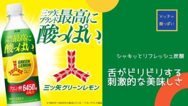 【コレ売れる】「三ツ矢」ブランド最高に酸っぱい「三ツ矢 グリーンレモン」炭酸がシャキッと爽快!!夏バテ対策に最適!
