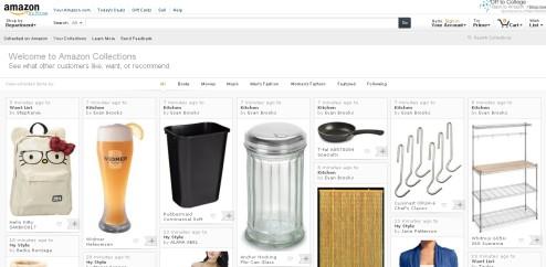 米アマゾンがオシャレなPinterest風サイト「Amazon Collections」を公開