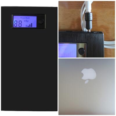 電源探しから解放!MacbookAirに最高の大容量モバイルバッテリーの紹介「Advan Technology21000mAh」