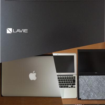人気の「LaVie Hybrid ZERO HZ550」最軽量ノートを購入!MacBook Airと重さ比較