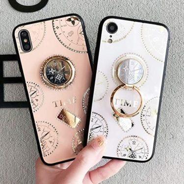 iPhone8の可愛くておしゃれなリング付きケースを娘用に購入っ、時計柄のアクセントがクール!