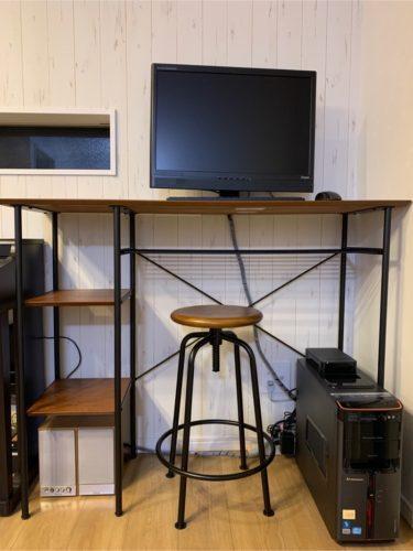 テレワークに最適なオシャレで立ちながら仕事ができるニコエンド(niko and …)の家具を購入っ!コスパ良しっ!
